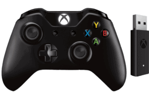 Microsoft Xbox Controller schwarz + Wireless Adapter für Windows