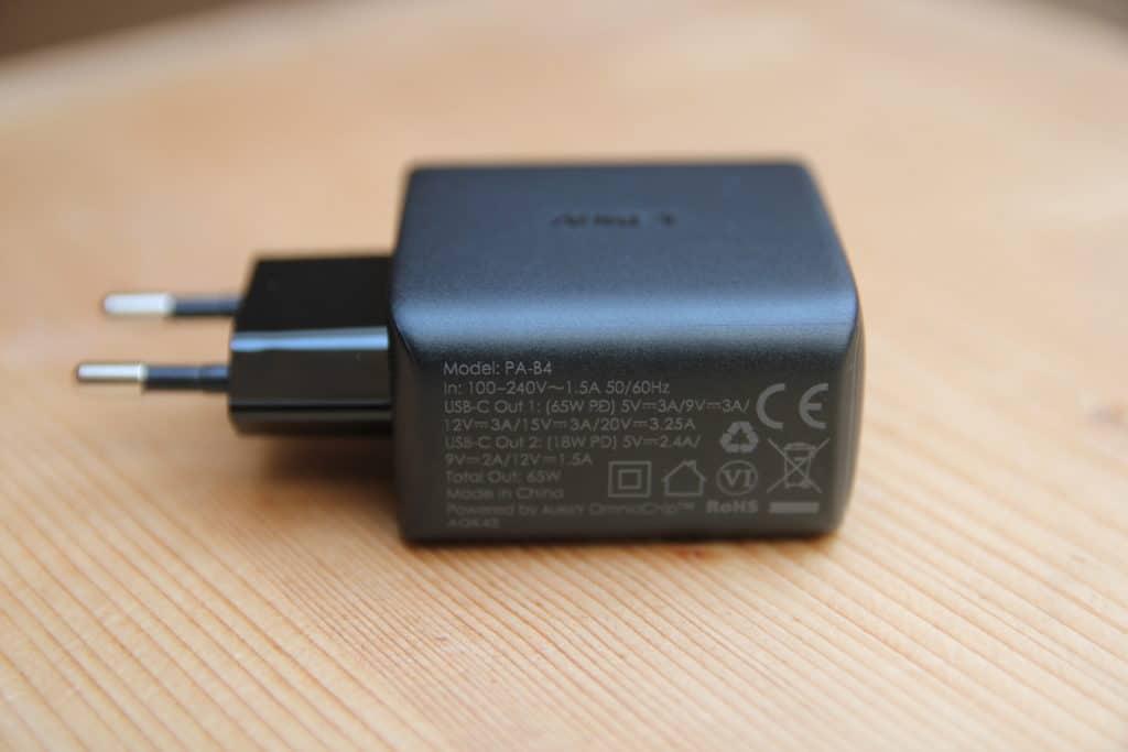 AUKEY PA-B4: Unterstützte Spannungen und Ströme, sowie CE-Kennzeichnung